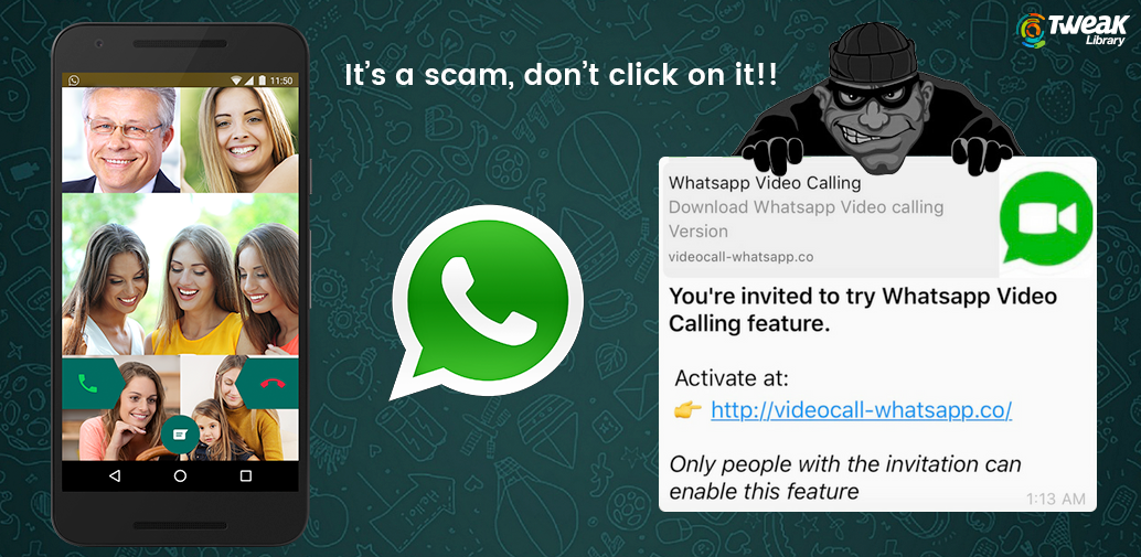WhatsApp group video call invite? Wait it's a scam, don't