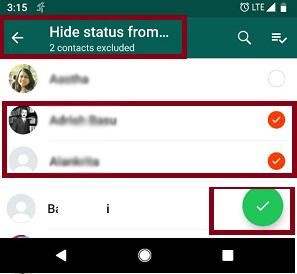 hide status from selected android whatsapp