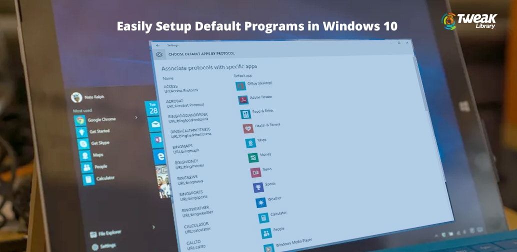 Set default programs- Windows 10