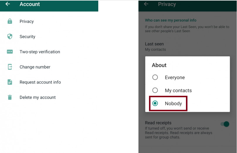 WhatsApp Privacy Measures