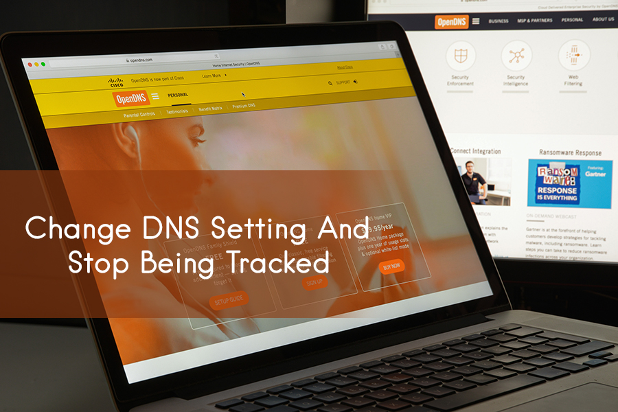 Change DNS setting and stop being tracked