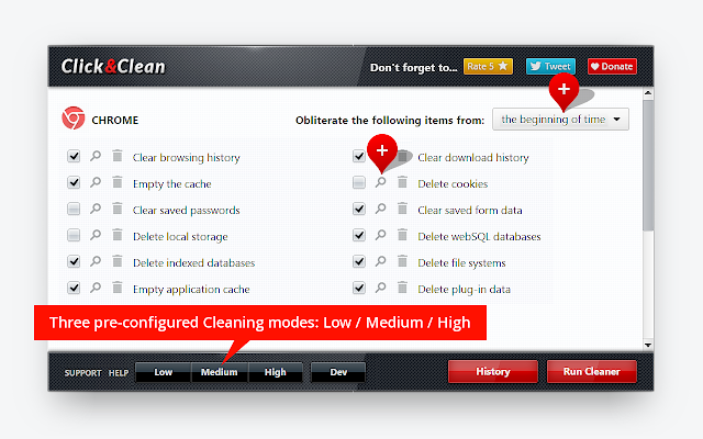 Click&Clean - Secure PC from Online Threats