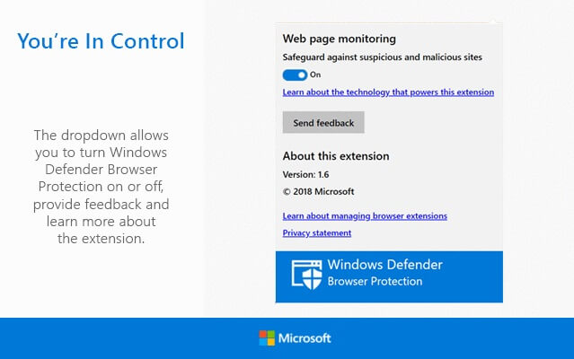 Windows Defender - Safeguard Against Malicious Sites