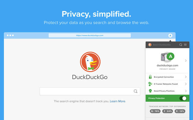 DuckDuckGo - Privacy Simplified on Chrome