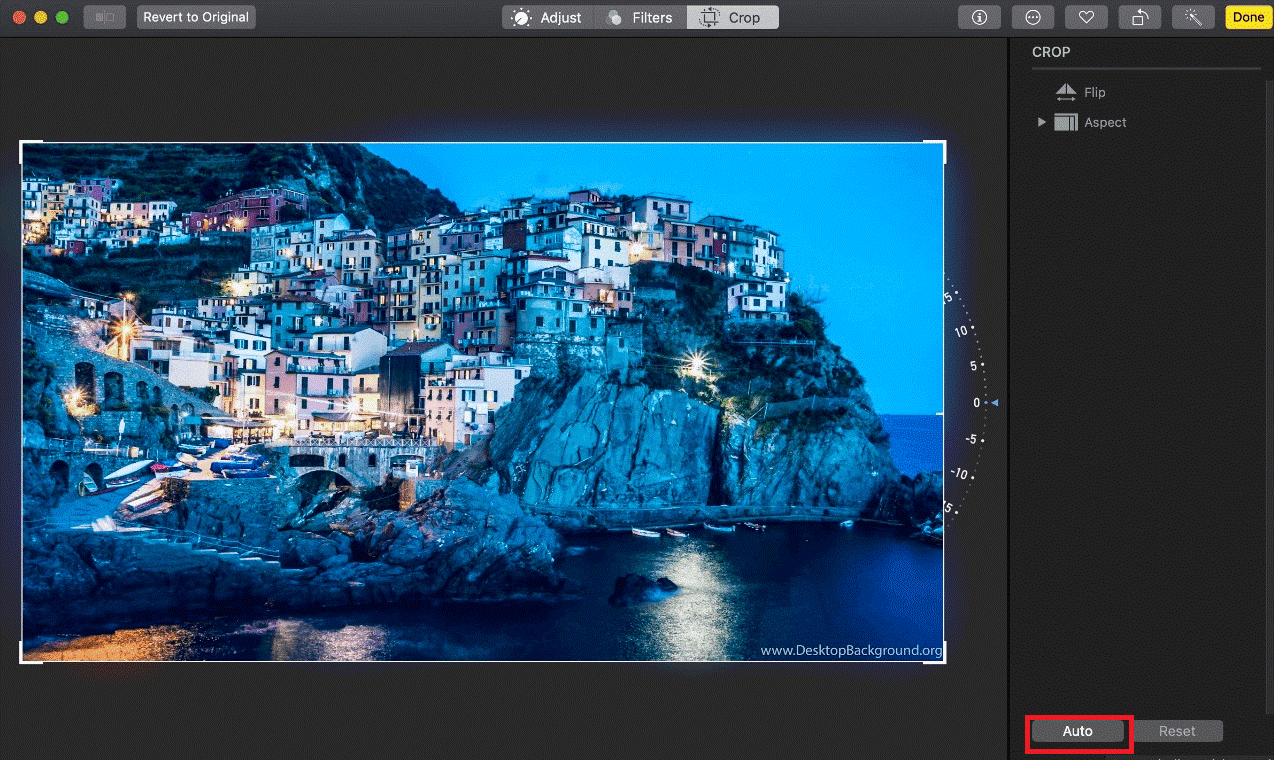 Aspect ratio in Photos for Mac