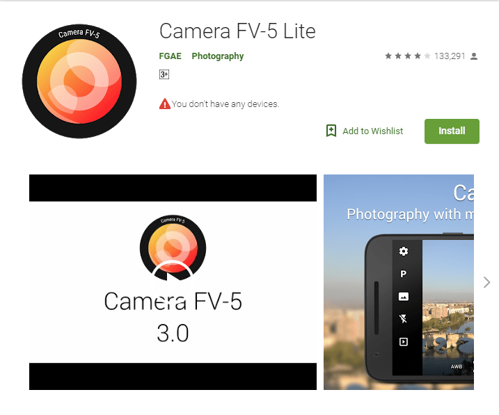 Camera FV -5 Lite - Best camera apps android