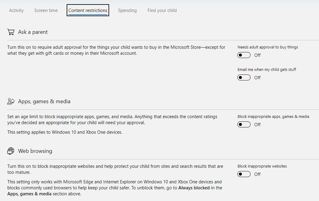 Content Restriction Setting -10