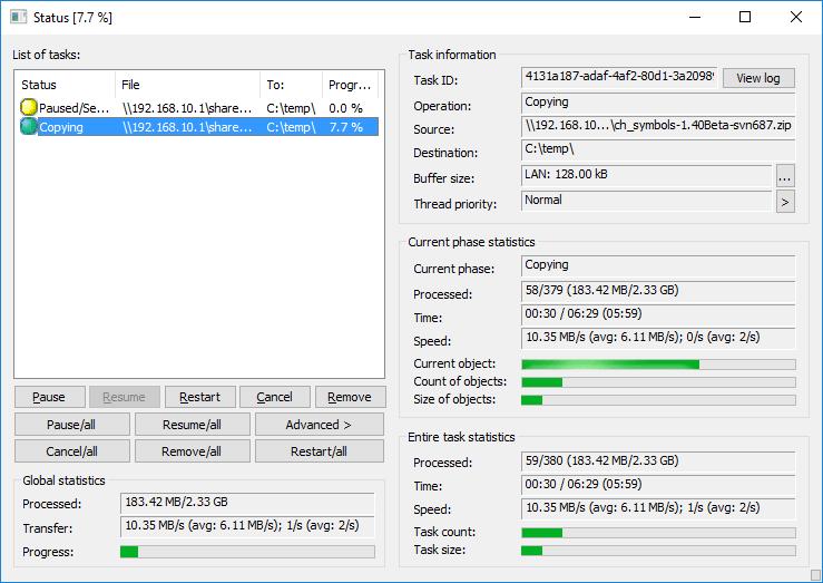Copy handler - File copy utility software