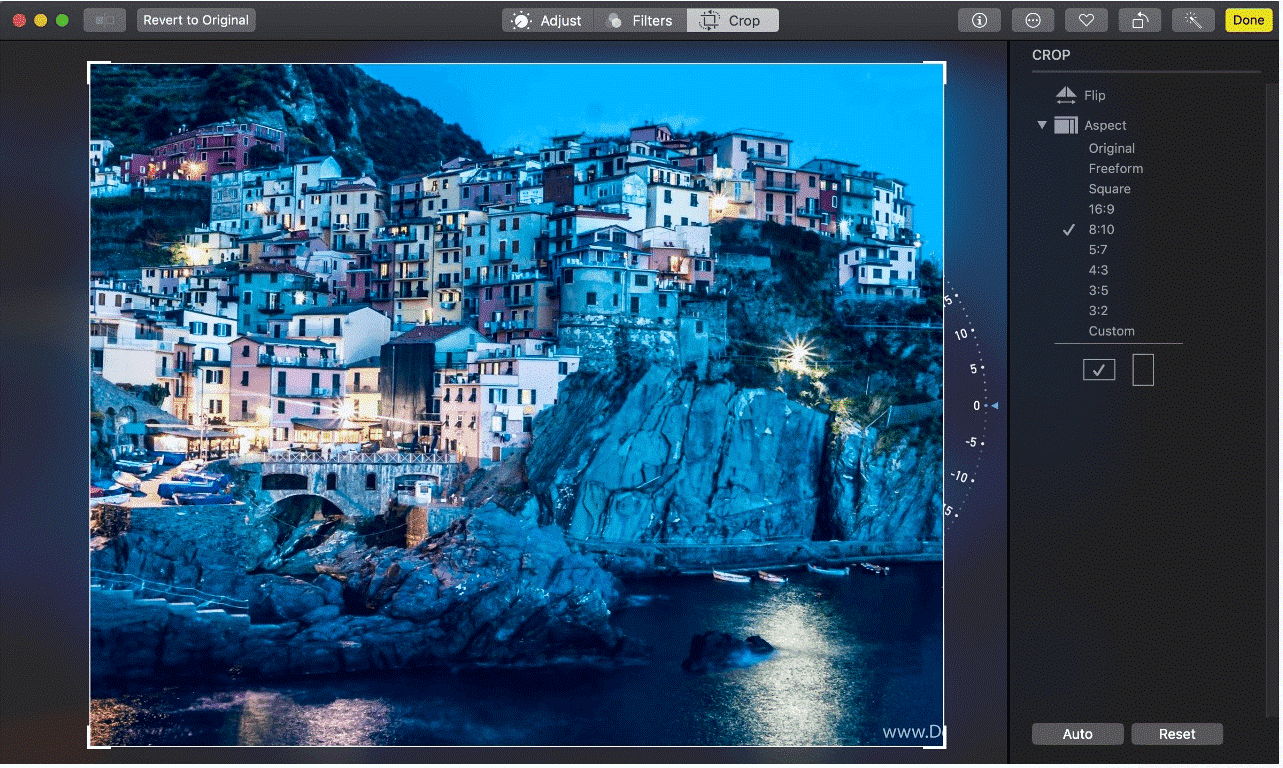 Cutomize photos Ratio on Mac