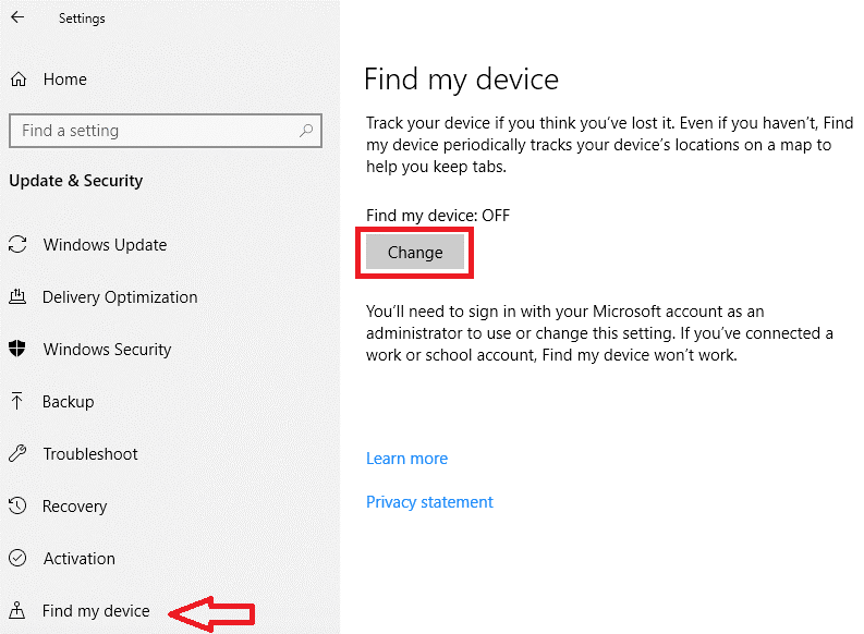 Find My Device option in Control Panel - Tweaklibrary
