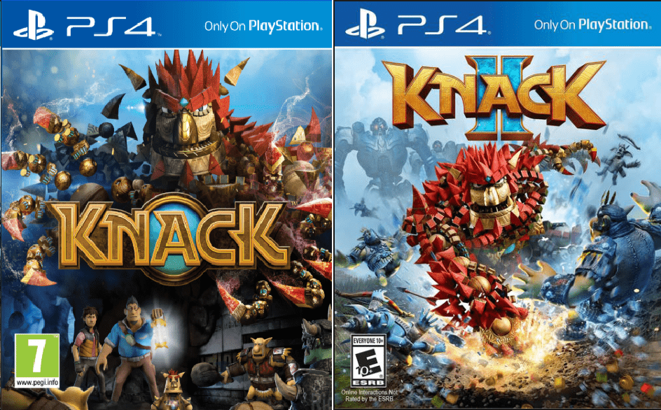 Knack I and II Game to play on PS4