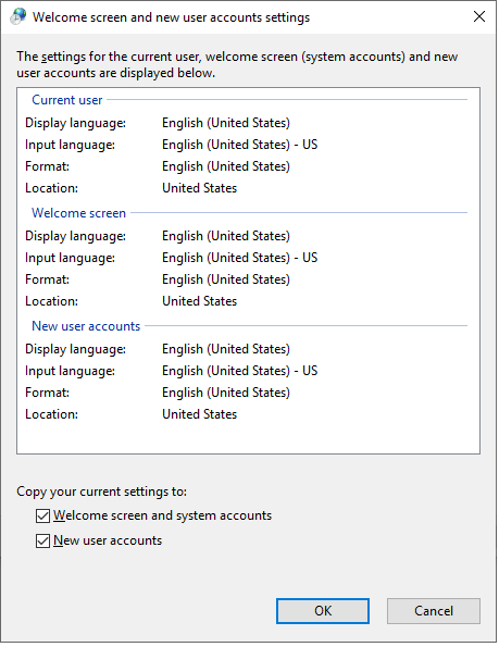 Mark Welcome screen and system accounts options