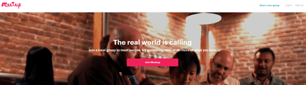 Meetup - A platform to find new people with common interests