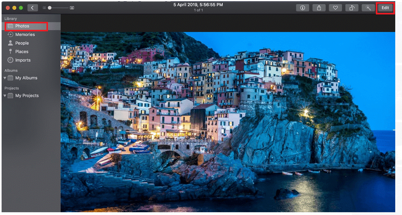 Tune Brightness in photos for Mac