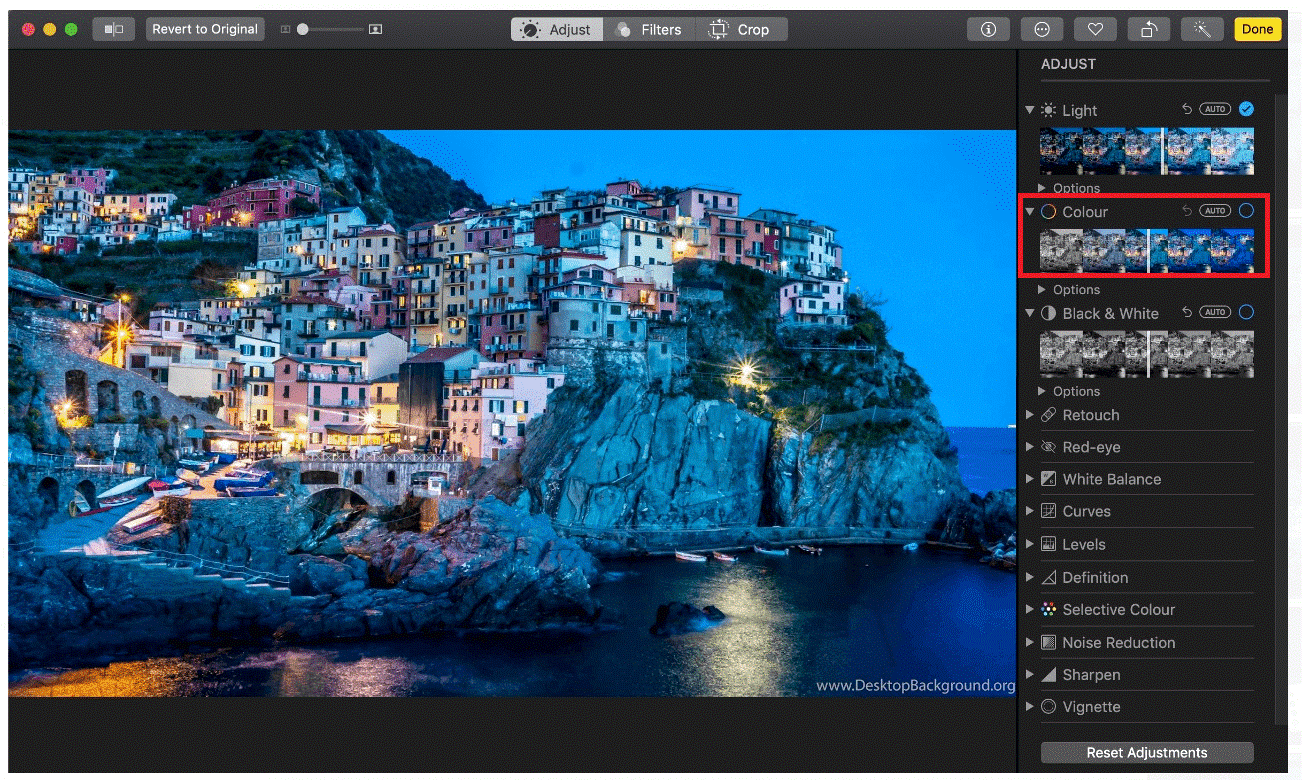 Tune color saturation in Mac - Tweaklibrary