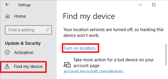 Turn on location in Control Panel - Tweaklibrary