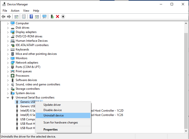 Uninstall Driver In Windows 10