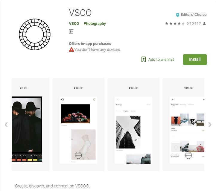 VSCO android app