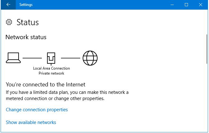 Walk through Network Status