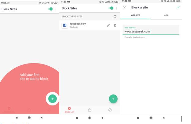 Website Blocking App - BlockSite