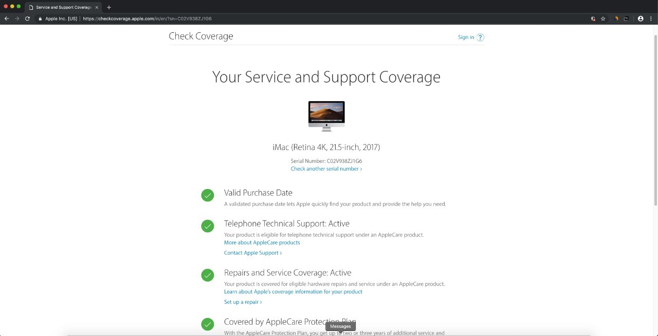 service and support coverage in apple