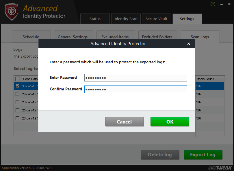 password protected details
