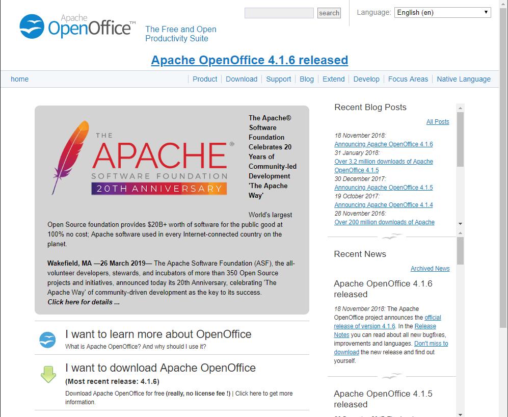 Apache Open office - Microsoft Office