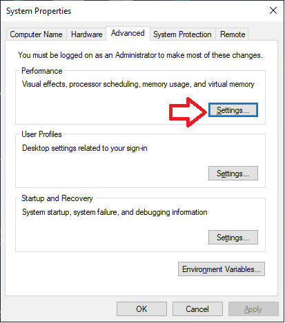 Click on settings - Display driver stopped responding
