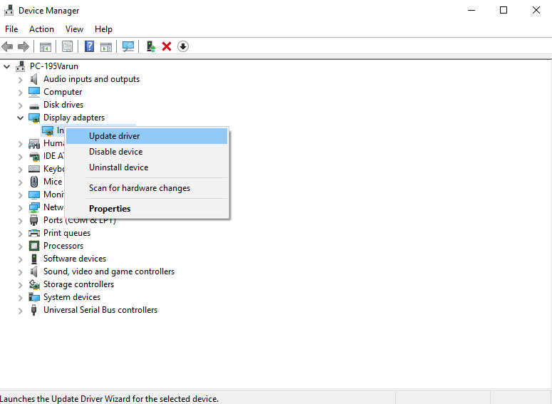 Device Manager - Display driver stopped responding
