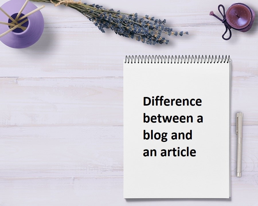 Difference between blog and Article