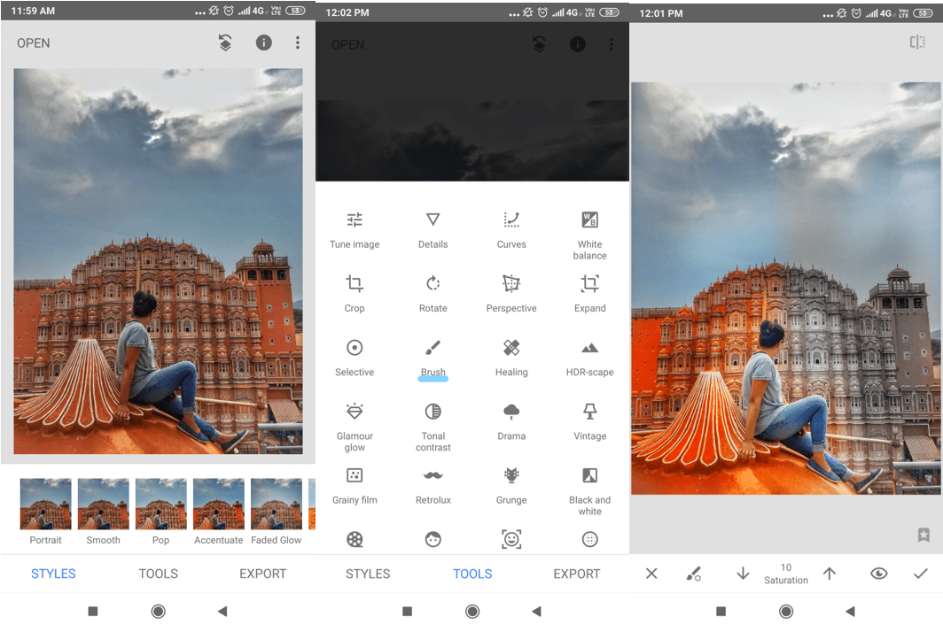 Edit particular objects - Photo editing apps