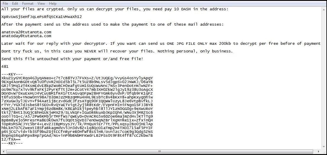 How Anatova ransomware encrypts data