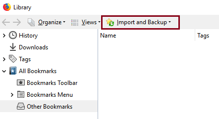 Import Bookmarks from HTML