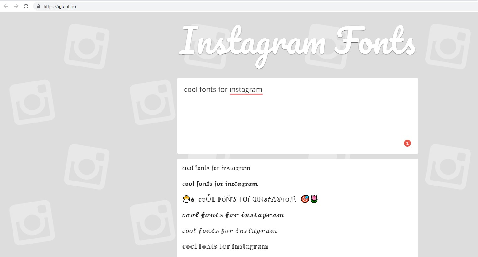 How to customize Instagram Fonts