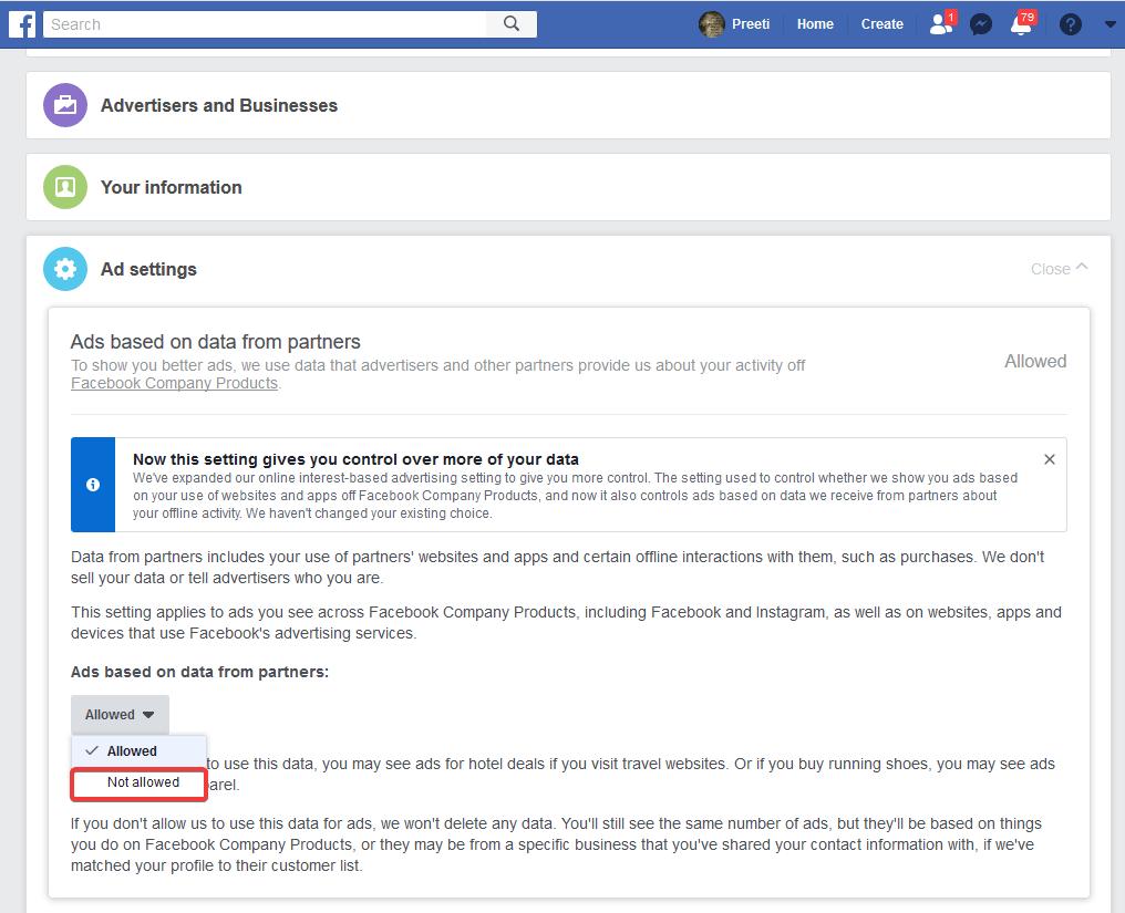 Keep fb data safe