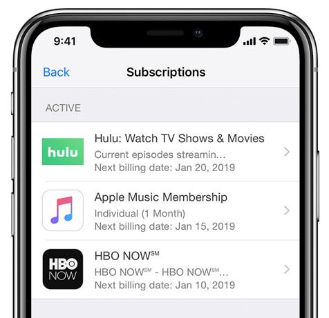 Manage iOS or iPad Subscriptions