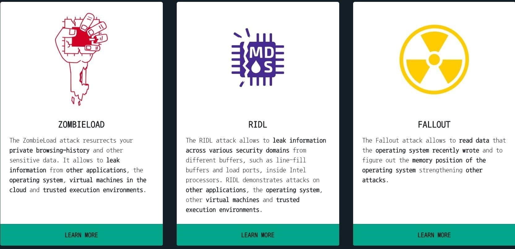 Microarchitectural Data Sampling attack