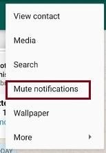 Mute Notification - Whatsapp Notification