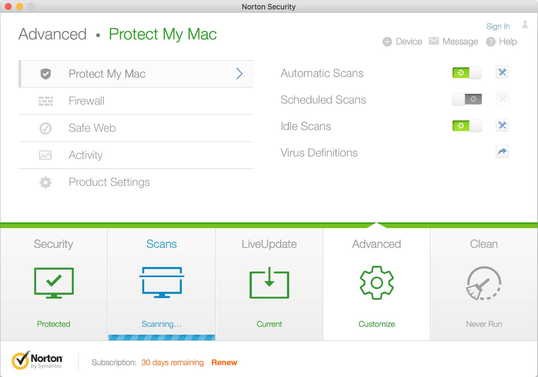 Nortan Security - Best Antivirus for Mac
