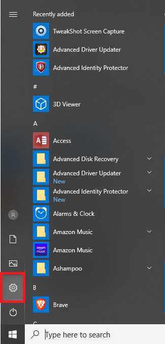 Open settings - Connect wireless printers in windows