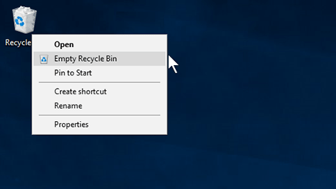 Recycle Bin - Free up Disk Space on Windows
