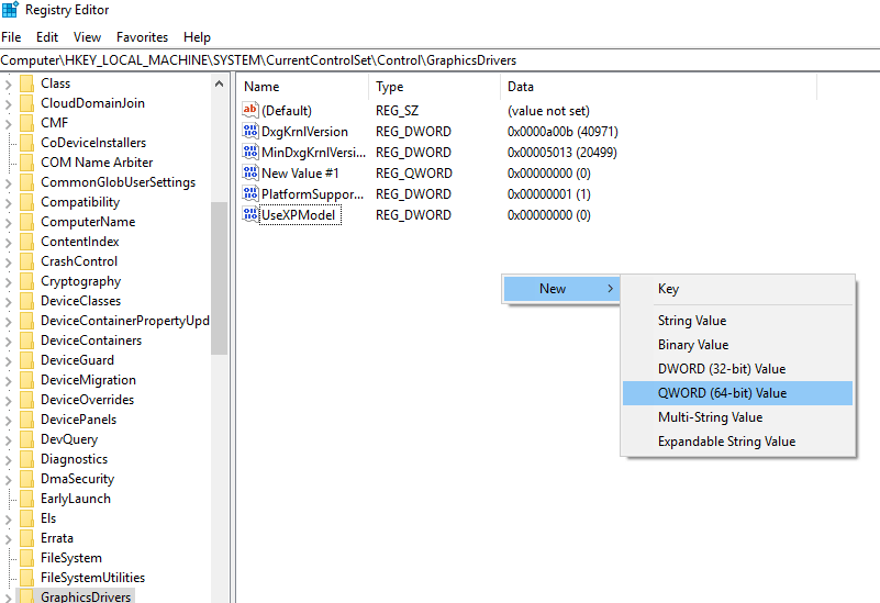Registry Editor - Display driver stopped responding