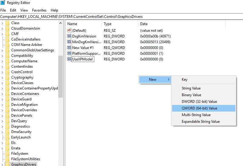 Registry Editor - Display driver stopped responding