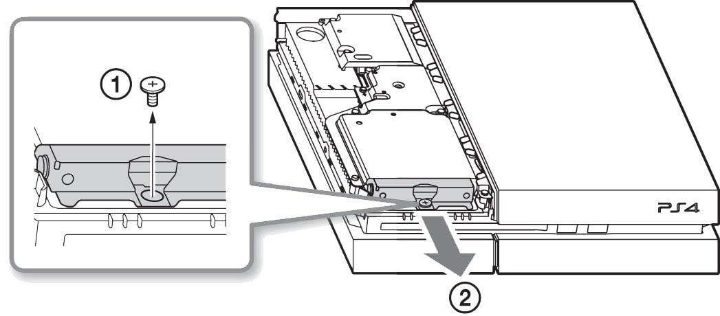 Remove the screw of Hard Drive Case