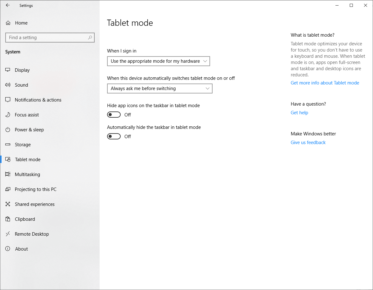 Setting Window Click on System