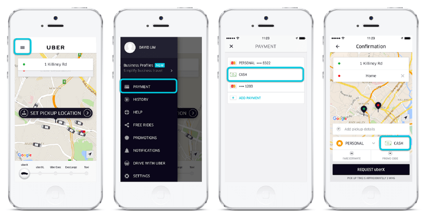Uber payment option