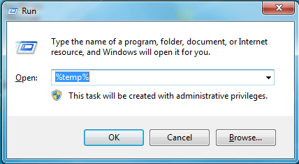 temp files - Free up Disk Space on Windows