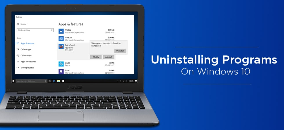 uninstall software from your Windows 10