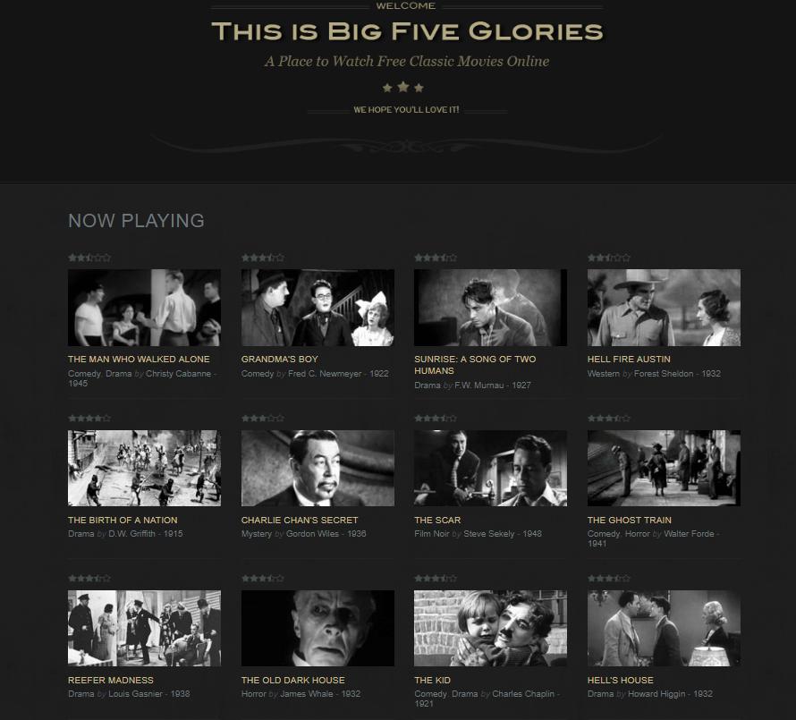 Big Five Glories - Free Movies Online