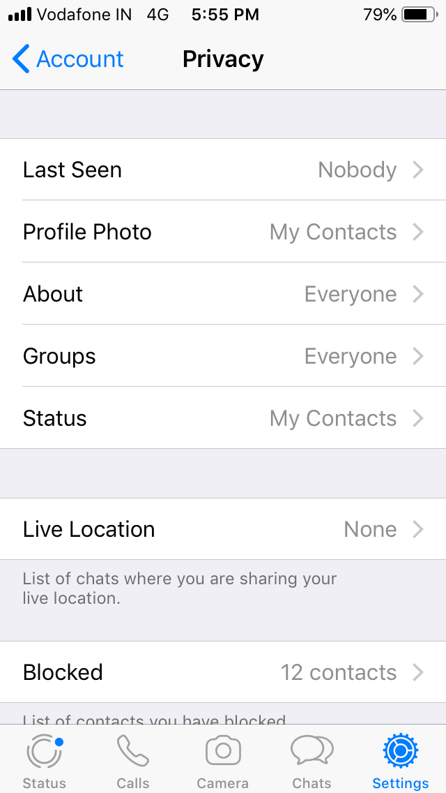 Control Your Privacy in Whatsapp
